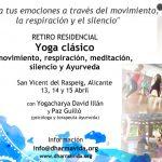 Retiro de Yoga clásico, meditación y Ayurveda en abril, Alicante